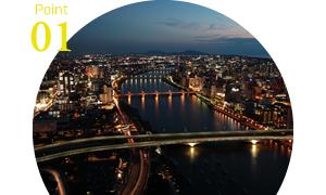 新潟市街・日本海を一望